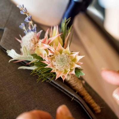 Floral Lounge Natural buttonhole