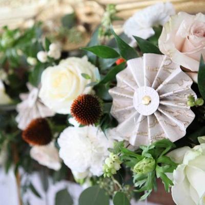 Floral Lounge Triton inn floral garland