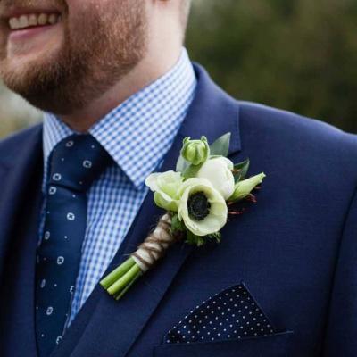 Floral Lounge anenome buttonhole