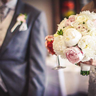Bridal bouquet peony