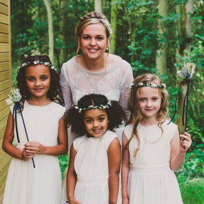 Bride & Flowergirls