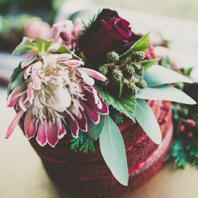 Floral Lounge English Heritage Wedding flowers cake top