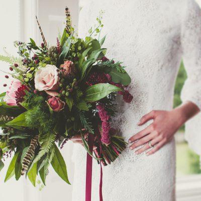 Floral Lounge English Heritage Wedding flowers vintage dress