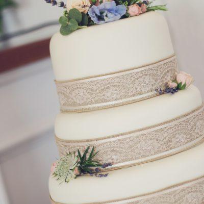 Rustic Blue Cake Flowers