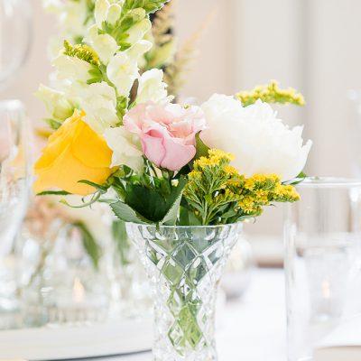 Vintage bud vase flowers